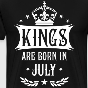 Kings are born in July King Birthday Gift Vintage  - Men's Premium T-Shirt