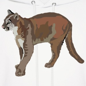 Cougar,Mountain Lion,Puma - Men's Hoodie