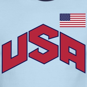 usa_olympic-sign_&_flag_3c T-Shirts - Men's Ringer T-Shirt