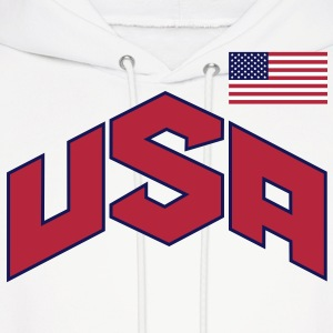 usa_olympic-sign_&_flag_3c Hoodies - Men's Hoodie