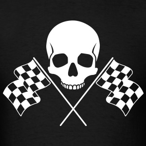 Skull Checkered Flags T-Shirts - Men's T-Shirt