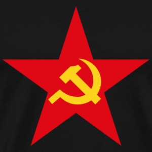 Communist Flag Star Hammer & Sickle - Men's Premium T-Shirt