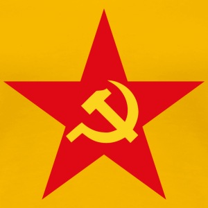 Communist Flag Star Hammer & Sickle - Women's Premium T-Shirt