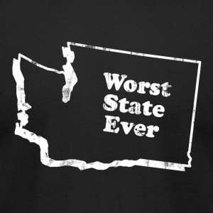 WASHINGTON - WORST STATE EVER T-Shirts - Men's T-Shirt by American Apparel