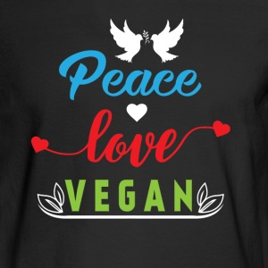 Peace Love Vegan Long Sleeve Shirts - Men's Long Sleeve T-Shirt