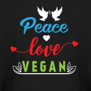 Peace Love Vegan Kids' Shirts - Kids' Long Sleeve T-Shirt