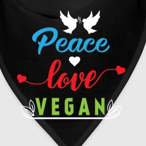 Peace Love Vegan Caps - Bandana