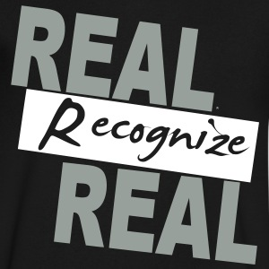 REAL RECOGNIZE REAL T-Shirts - Men's V-Neck T-Shirt by Canvas