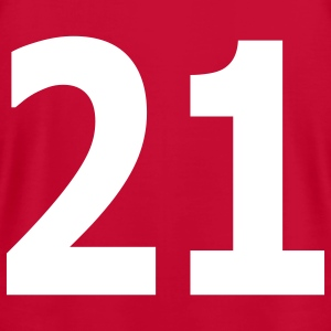 Team letter twenty one 21 - Men's T-Shirt by American Apparel