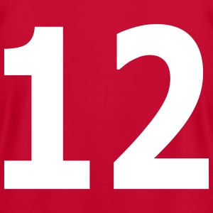 Team letter twelve 12 - Men's T-Shirt by American Apparel