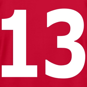 Team letter thirteen 13 - Men's T-Shirt by American Apparel