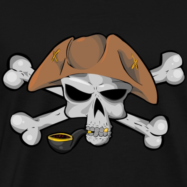 Skull And Bones (Pirate)  - Men's Premium T-Shirt