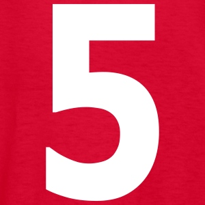 Team letter five 5 - Kids' T-Shirt