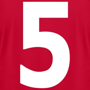 Team letter five 5 - Men's T-Shirt by American Apparel