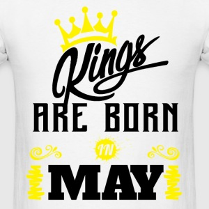 Kings Are Born In May T-Shirts - Men's T-Shirt