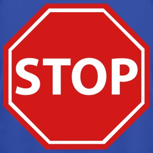Stop sign with background - Men's T-Shirt by American Apparel