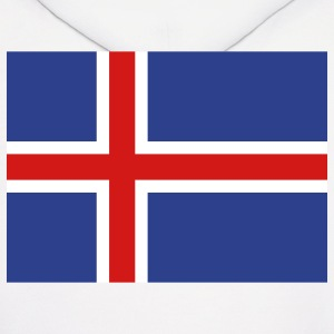 Iceland- Icelandic flag with correct dimensions - Men's Hoodie