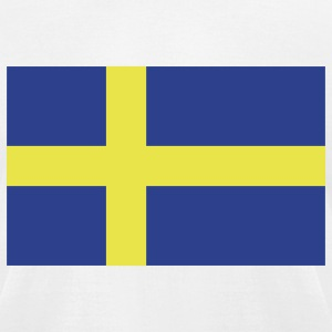 Sweden - Swedish flag with correct dimensions - Men's T-Shirt by American Apparel