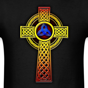 Trinity Celtic Cross (Blue Red) - Men's T-Shirt