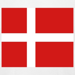 Denmark- Danish flag with correct dimensions - Men's T-Shirt by American Apparel