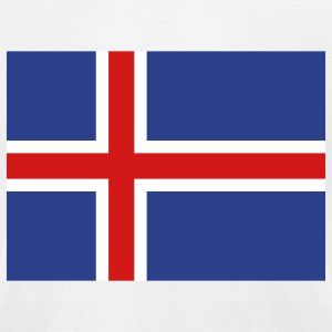 Iceland- Icelandic flag with correct dimensions - Men's T-Shirt by American Apparel