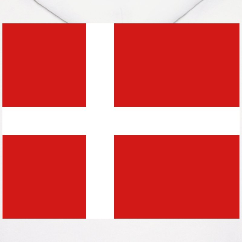 Denmark- Danish flag with correct dimensions - Men's Hoodie