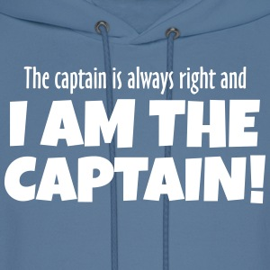 The Captain is always right! Hoodies - Men's Hoodie