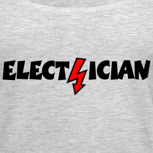 Electrician with a Lightning Tanks - Women's Premium Tank Top