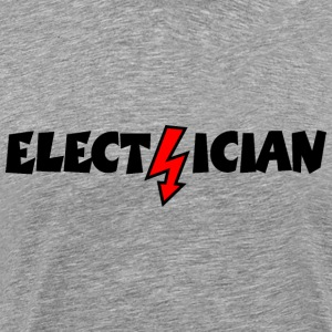 Electrician with a Lightning T-Shirts - Men's Premium T-Shirt