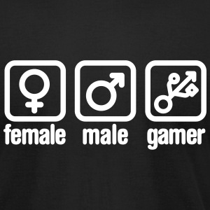 Female - Male - Gamer (USB) T-Shirts - Men's T-Shirt by American Apparel