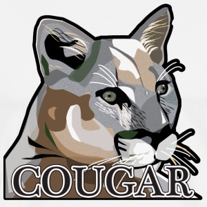 Cougar,Mountain Lion,Puma - Men's Premium T-Shirt