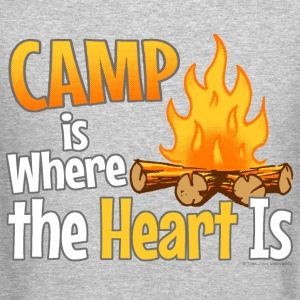 Camp is Where the Heart is Long Sleeve Shirts - Crewneck Sweatshirt