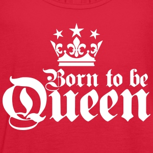 Born to be QUEEN 01 Birthday black Top - Women's Flowy Tank Top by Bella