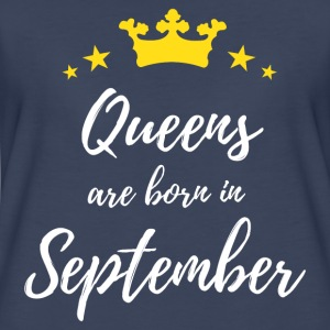 Queens Are Born In September  T-Shirts - Women's Premium T-Shirt