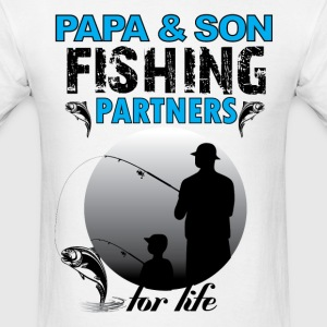 Papa And Son Fishing Partners For Life T-Shirts - Men's T-Shirt