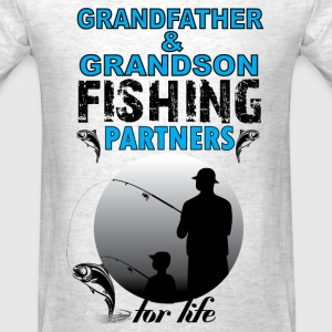 Grandfather & Grandson Fishing Partners For Life T-Shirts - Men's T-Shirt