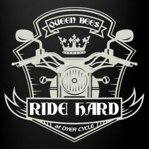 Queen Bees Ride Hard - wh - Full Color Mug
