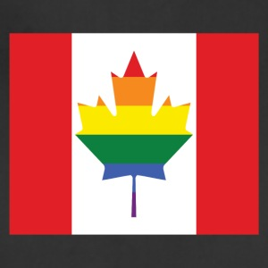 Canada rainbow pride flag Aprons - Adjustable Apron