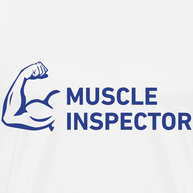 Men's Shirt - Blue on White - Muscle Inspector
