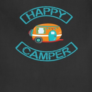 Happy Camper in Blue Aprons - Adjustable Apron