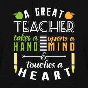Teacher touches heart Hoodies - Women's Hoodie