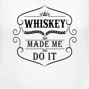 Whiskey made me do it T-Shirts - Women's Maternity T-Shirt