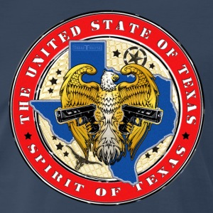United State of Texas Badge T-Shirt - Color - Men's Premium T-Shirt