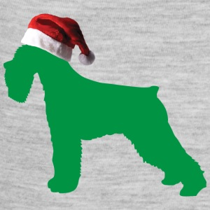 A Cute German Schnauzer with a Santa Claus Hat on - Baby Contrast One Piece