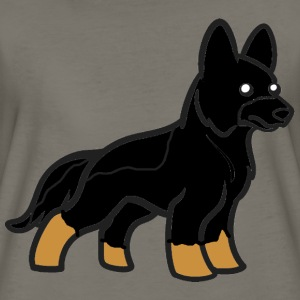 german shepherd bi colored cartoon - Women's Premium T-Shirt