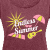 Endless Summer Flowy T-Shirt -  Burgundy, Pink, Yellow - Women's Roll Cuff T-Shirt