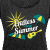 Endless Summer Flowy T-Shirt - Black, Yellow, Turquoise - Women's Roll Cuff T-Shirt