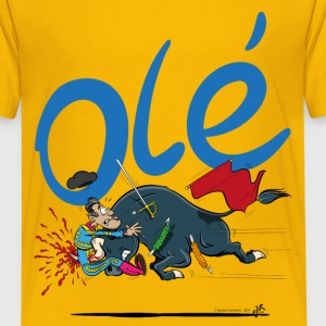Olé, Bad luck Bullfighter (kids, light background - Kids' Premium T-Shirt