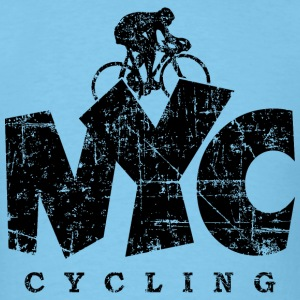NYC Cycling Distressed Black T-Shirts - Men's T-Shirt