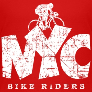 NYC BIKE RIDERS Distressed White Kids' Shirts - Kids' Premium T-Shirt